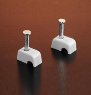 CABLE CLIPS - ROUND WHITE